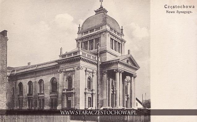 Nowa Synagoga w Częstochowie na poczštku II wojny œwiatowej została ograbiona, spalona 25 grudnia 1939
