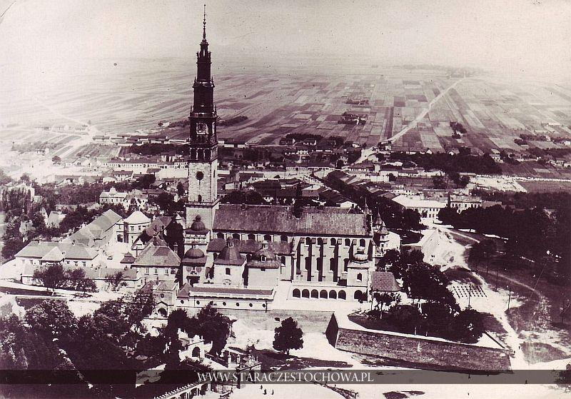 Klasztor Jasna Góra z lotu ptaka w Częstochowie