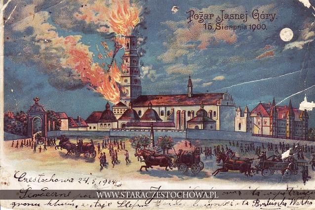 Jasna Góra, pożar wieży z 1900 roku, długi adres