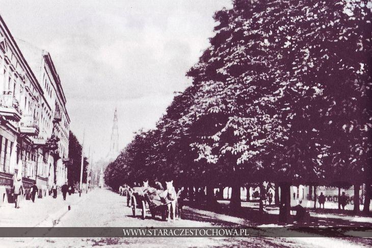Stara Częstochowa, III Aleja NMP, około 1900 roku