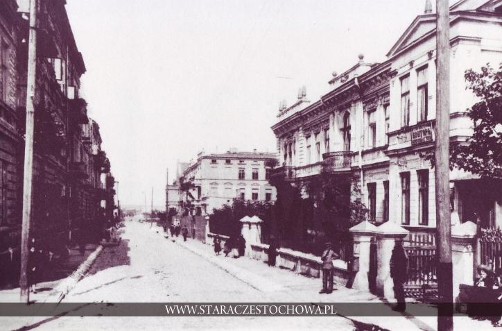 Stara Częstochowa, Ulica Szkolna, ok. 1910 roku