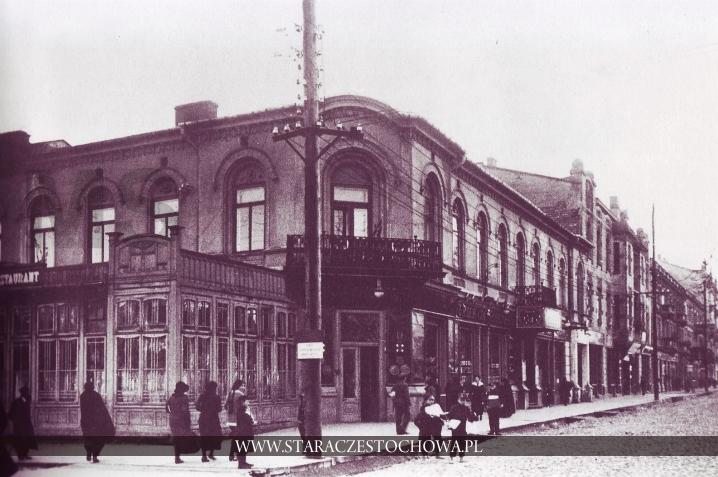 Historia Częstochowy, Aleje NMP róg ulicy Głównej w Częstochowie, lata 20-te