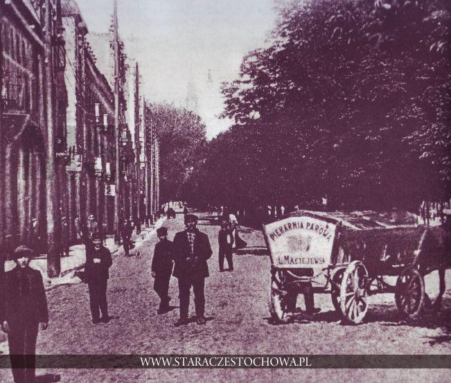 Stara Częstochowa, II Aleja NMP, ok. 1900 roku