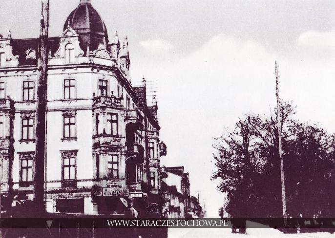 Stara Częstochowa, I Aleja NMP, ok. 1910 roku