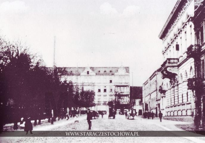 Częstochowa, Ulica Dojazd, ok. 1900 roku