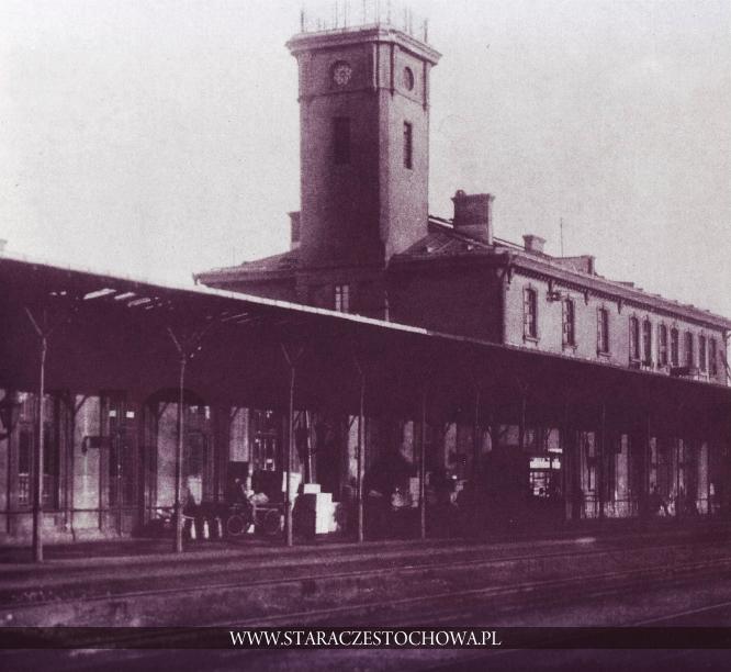 Stara Częstochowa, Peron dworca kolejowego, lata 20-te