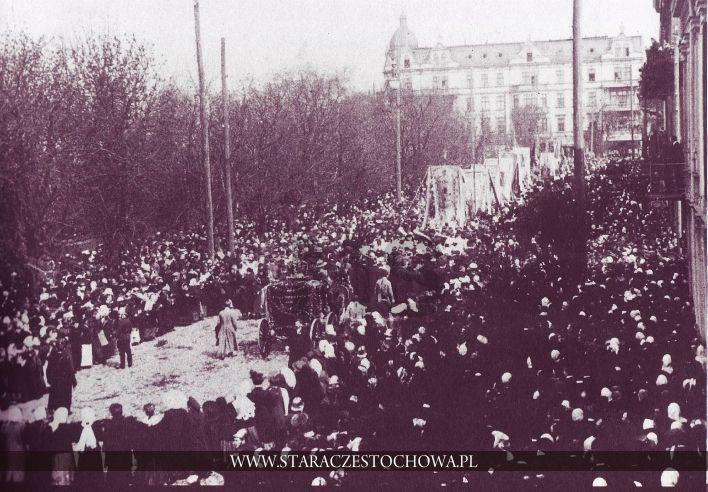 Częstochowa, Ulica Dojazd, ok.1910 roku