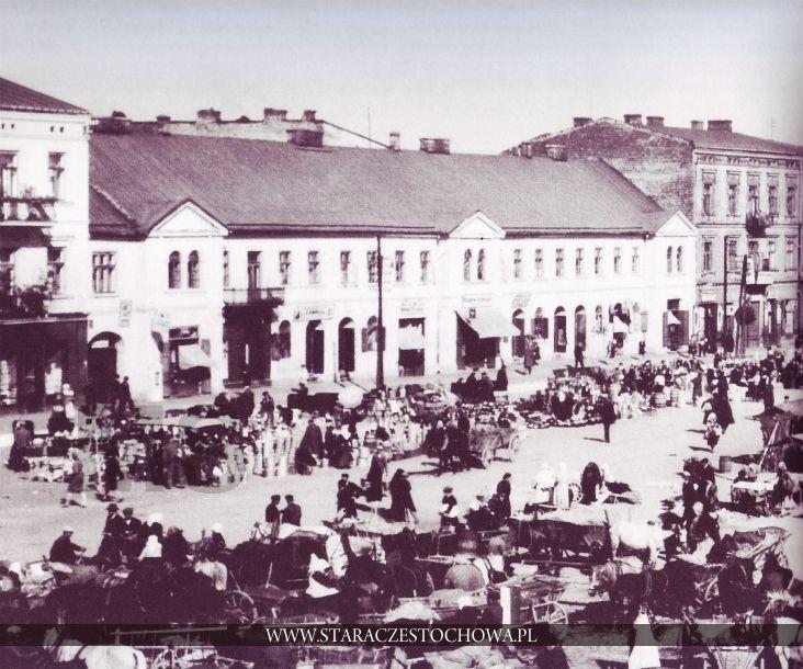 Nowy Rynek w Częstochowie, rok 1928