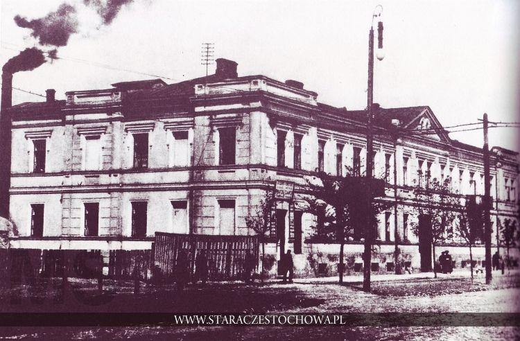 Ulica Teatralna w Częstochowie, stacja telefonów, lata 20-te