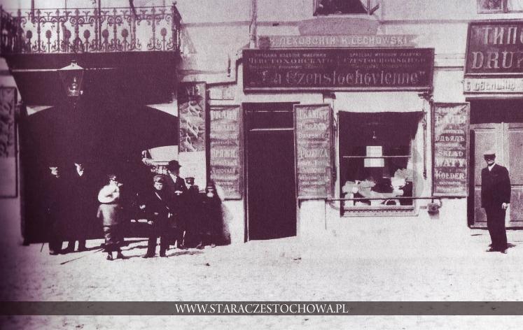 Stara Częstochowa, Przed sklepem, ok. 1910 roku