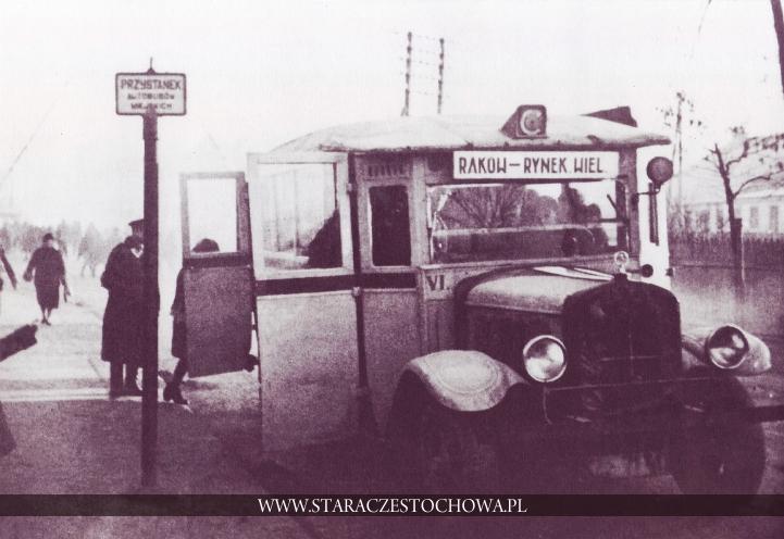 Stara Częstochowa, Przystanek autobusowy, lata 30-te