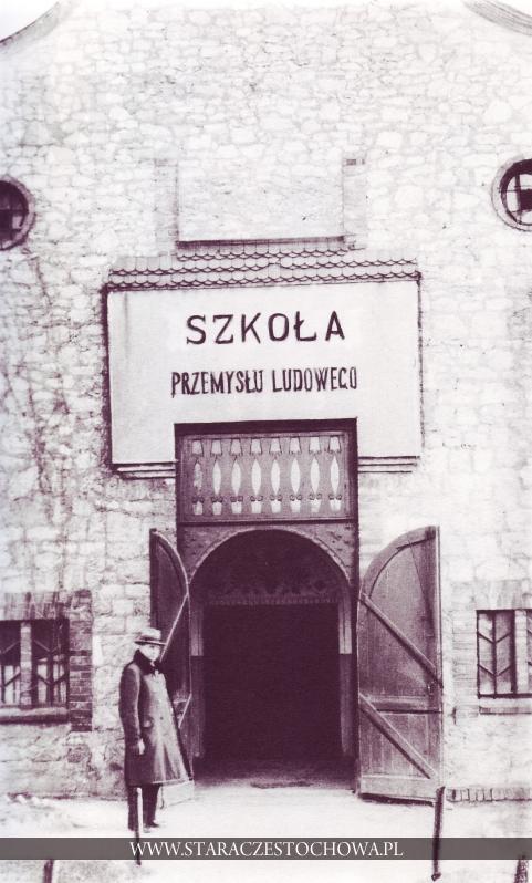 Stara Częstochowa, Szkoła Przemysłu Ludowego, lata 30-te