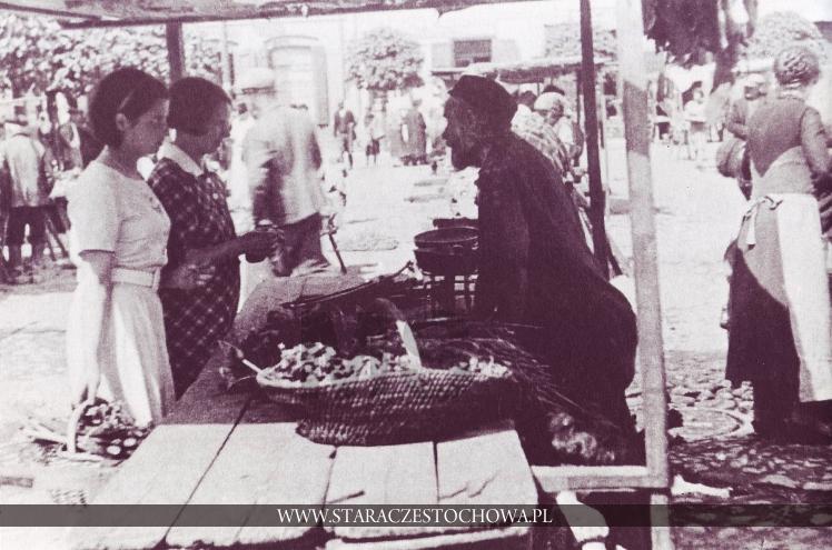 Na targu - Nowy Rynek w Częstochowie, lata 30-te