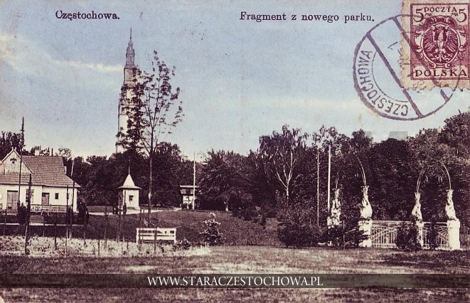 Fragment nowego parku, Stara Częstochowa 1922