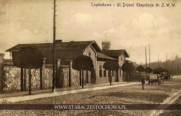 Ulica Dojazd, budynek ekspedycji drogi żelaznej