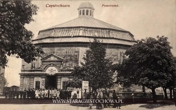 Budynek rotundy z 1908 roku w Częstochowie, Panorama Golgoty