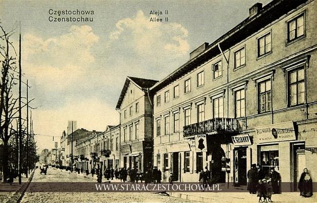 Północna strona II Alei NMP w Częstochowie