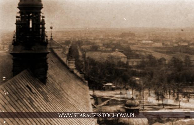 Rotunda panoramy widoczna z wieży bazyliki jasnogórskiej