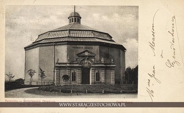 Budynek Golgoty, panorama z 1908 roku w Częstochowie, długi adres