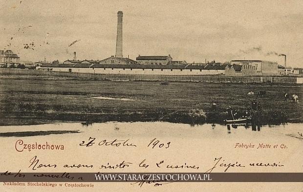 Fabryka Etablissments Motte, Meillassoux et Caulliez w Częstochowie