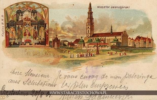 Klasztor i Kaplica NMP, litografia, długi adres