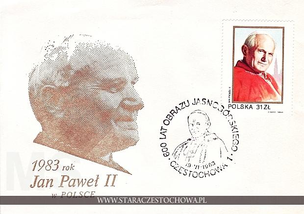 Jan Paweł II w Polsce, 600 lat obrazu jasnogórskiego, koperta