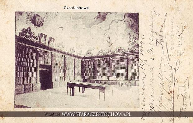 Wnętrze biblioteki jasnogórskiej, długi adres