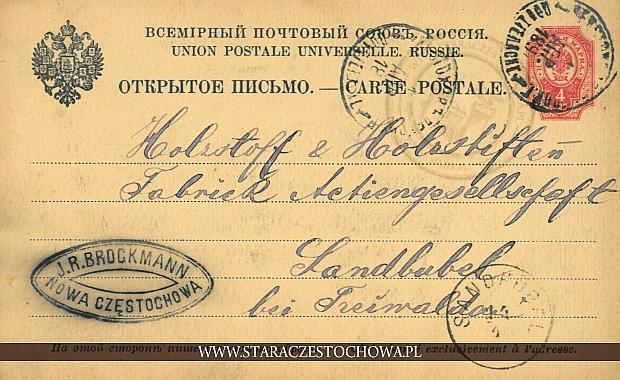 Karta pocztowa, sygnowana