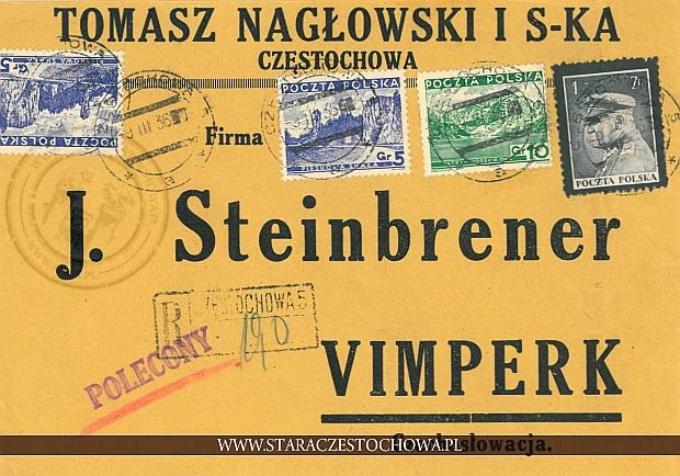 Koperta pocztowa, list polecony nr: 190