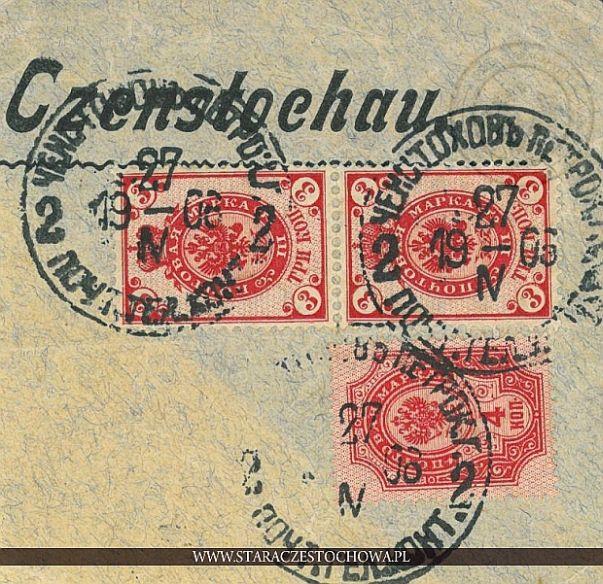 Karta pocztowa, rok 1908