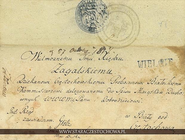 Koperta pocztowa, Królestwo Polskie