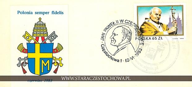 Koperta pocztowa, rok 1933 Polonia semper fidelis