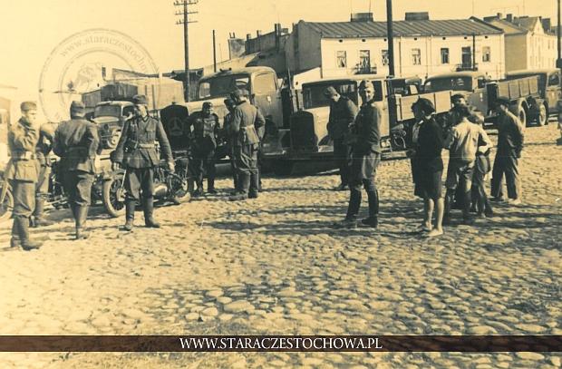 Częstochowa, żołnierze II wojna światowa, plac Daszyńskiego