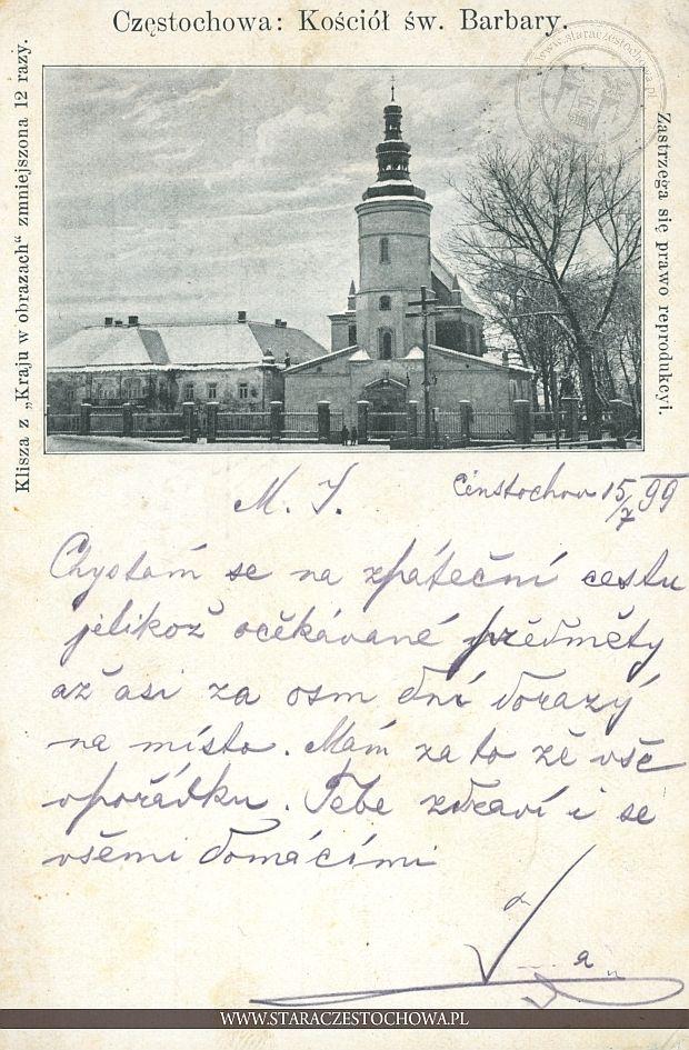 Kościół św. Barbary w Częstochowie, długi adres
