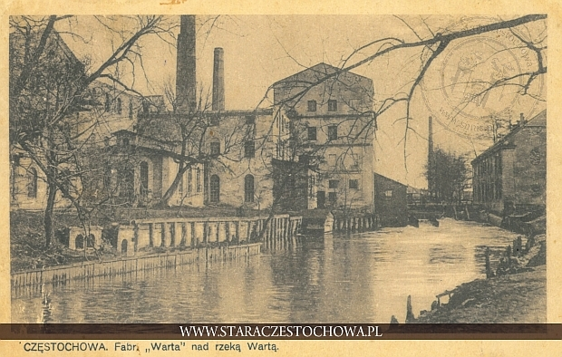 Fabryka Warta nad rzeką Wartą w Częstochowie