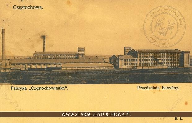 Fabryka Częstochowianka, przędzalnie bawełny