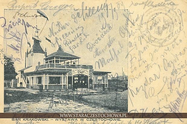 Bar krakowski, wystawa w Częstochowie z 1909, długi adres