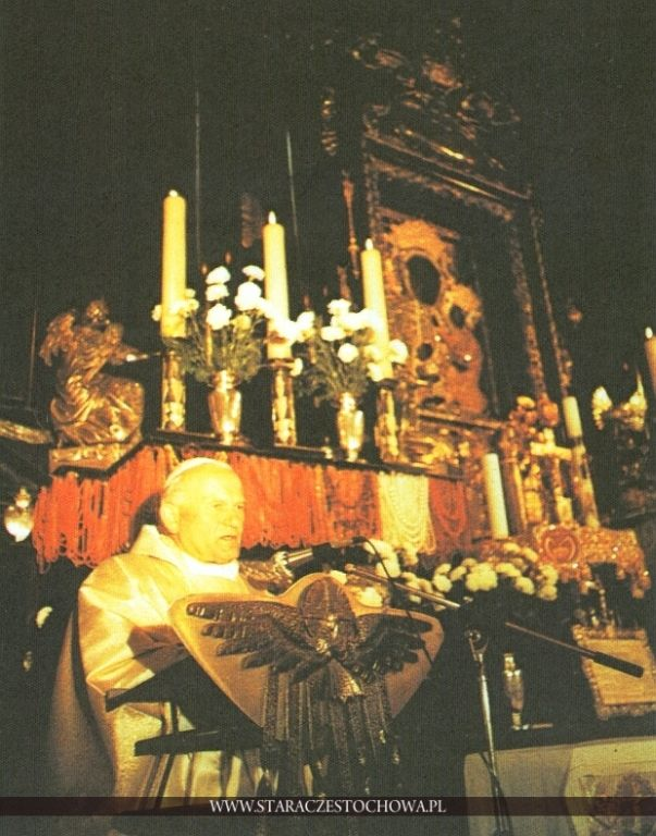 Papież Jan Paweł II na Jasnej Górze w 1979 roku