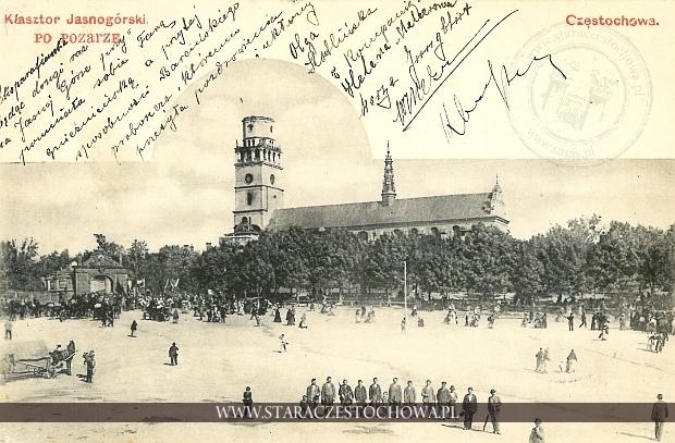 Częstochowa, Klasztor Jasnogórski po pożarze