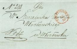 Obwoluta listu, 1855