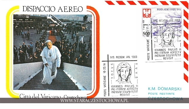 Koperta pocztowa, Dispaccio Aereo