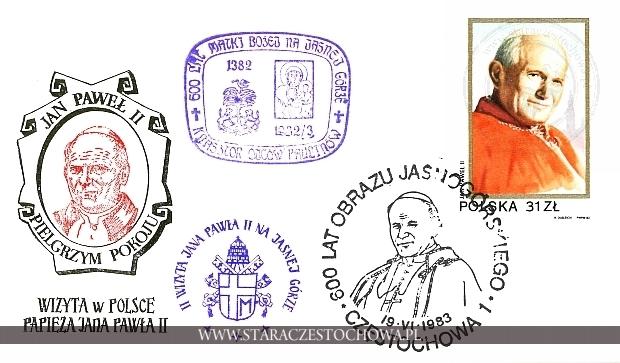 Koperta pocztowa, Wizyta w Polsce Papieża Jana Pawła II