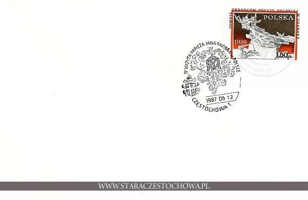 Koperta pocztowa, III wizyta Papieża w Polsce