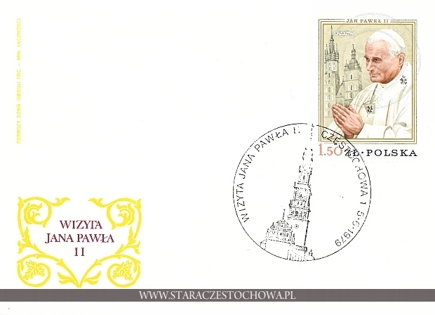 Koperta pocztowa, Wizyta Jana Pawła II