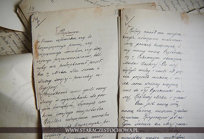 Rękopis Adamczyka, Przedmowa