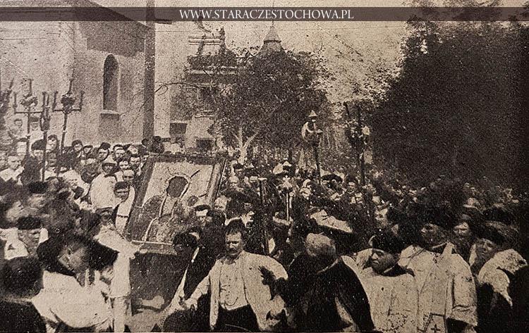 Cudowny obraz Matki Boskiej prowadzi po koronacyi do kaplicy były przeor O. Rejman