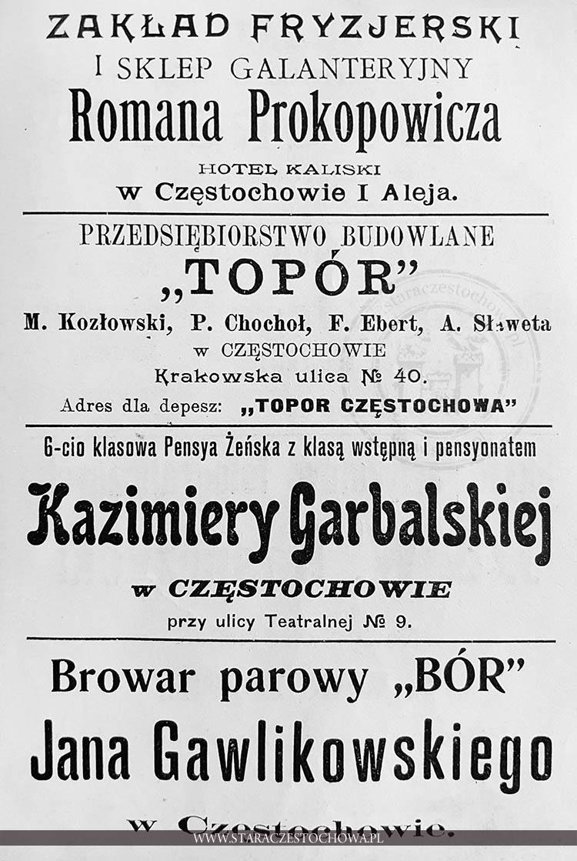 Częstochowa Historia Częstochowy Zakład Fryzjerski Romana